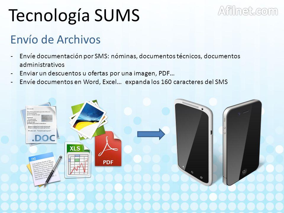 Tecnología SUMS Afilnet.com Envío de Archivos
