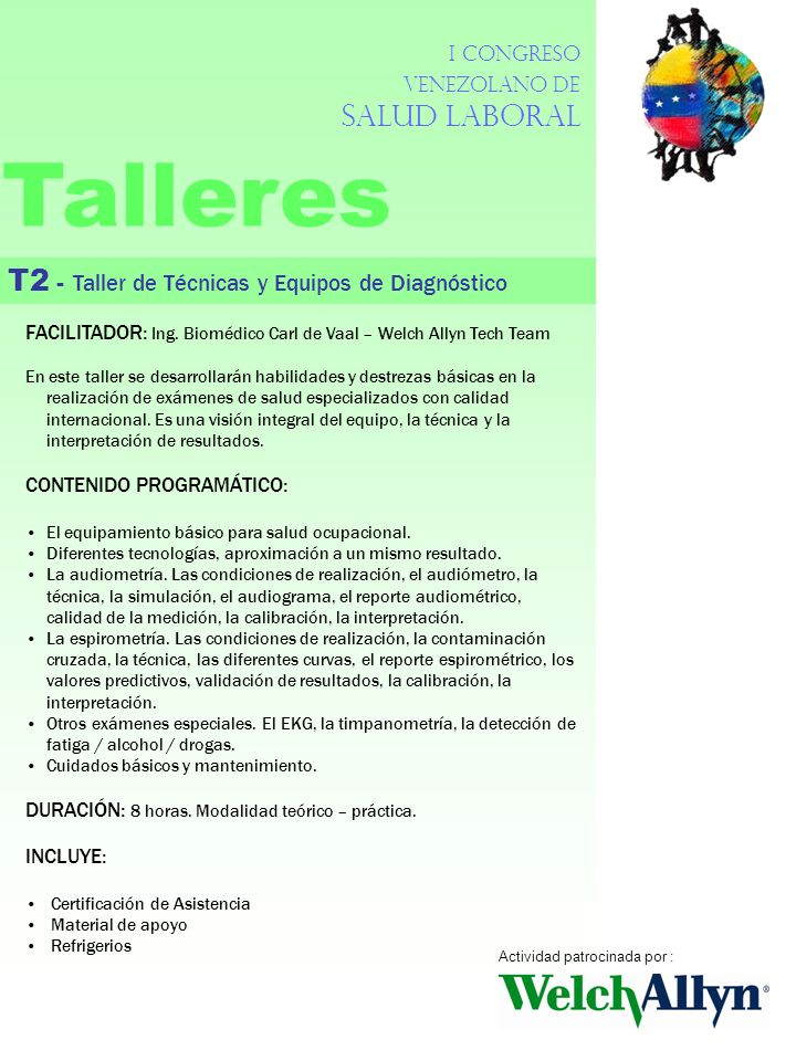 Talleres T2 - Taller de Técnicas y Equipos de Diagnóstico