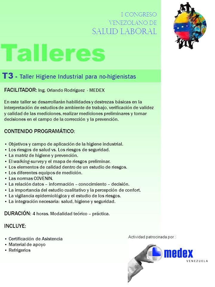 Talleres T3 - Taller Higiene Industrial para no-higienistas