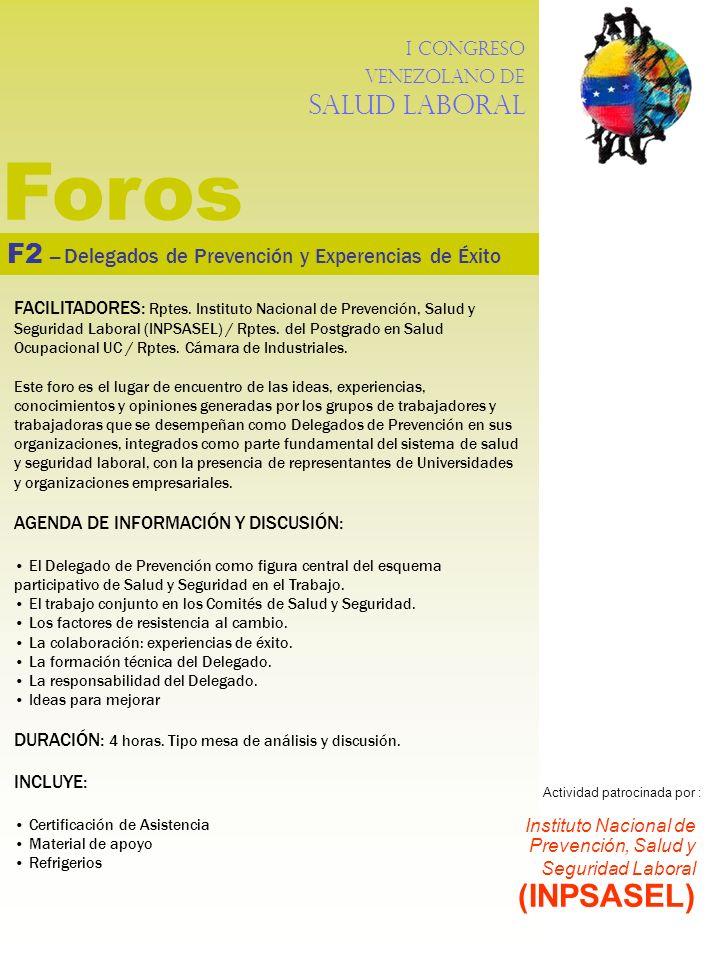 Foros F2 – Delegados de Prevención y Experencias de Éxito