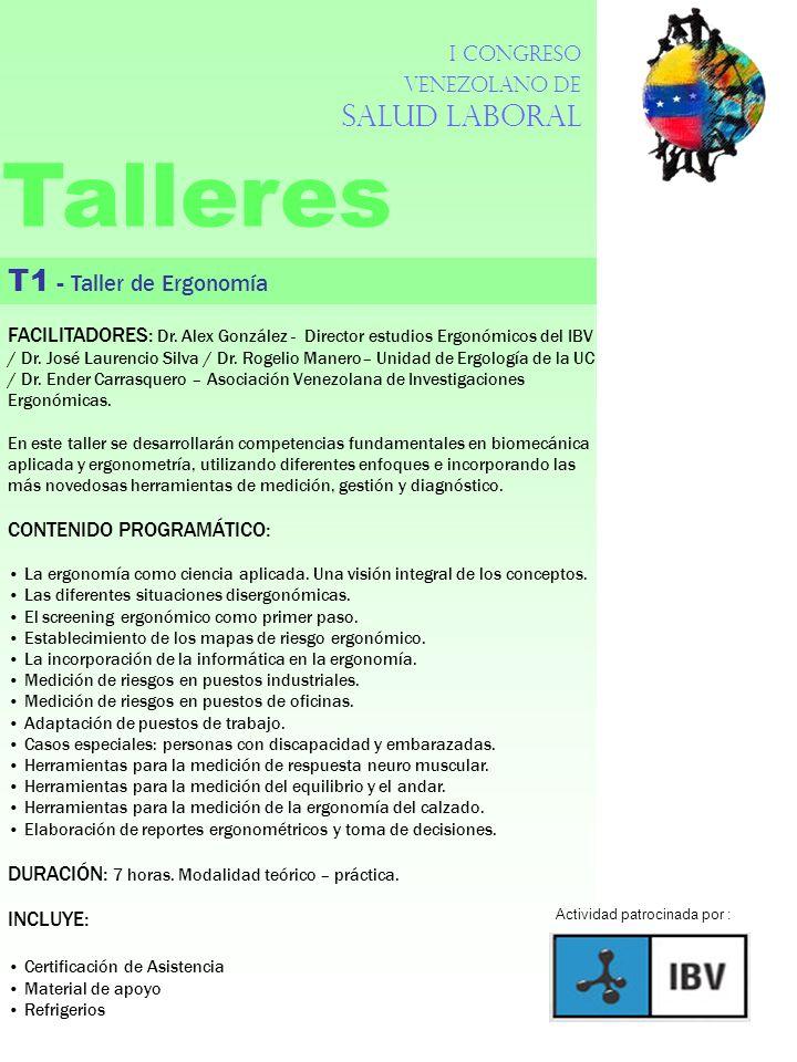Talleres T1 - Taller de Ergonomía