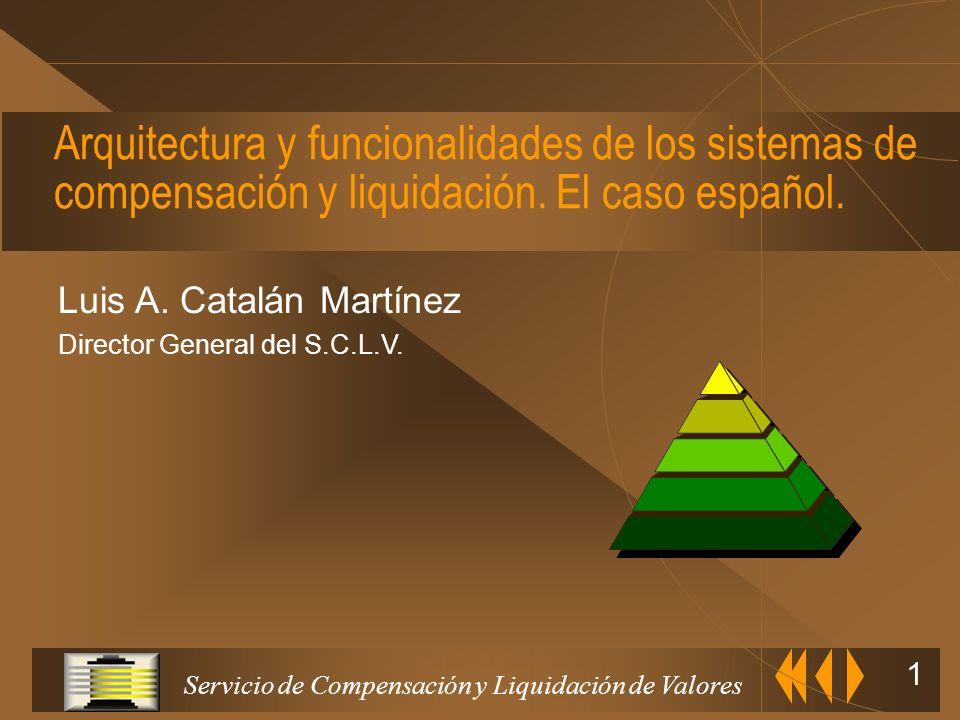 Arquitectura y funcionalidades de los sistemas de compensación y liquidación. El caso español.