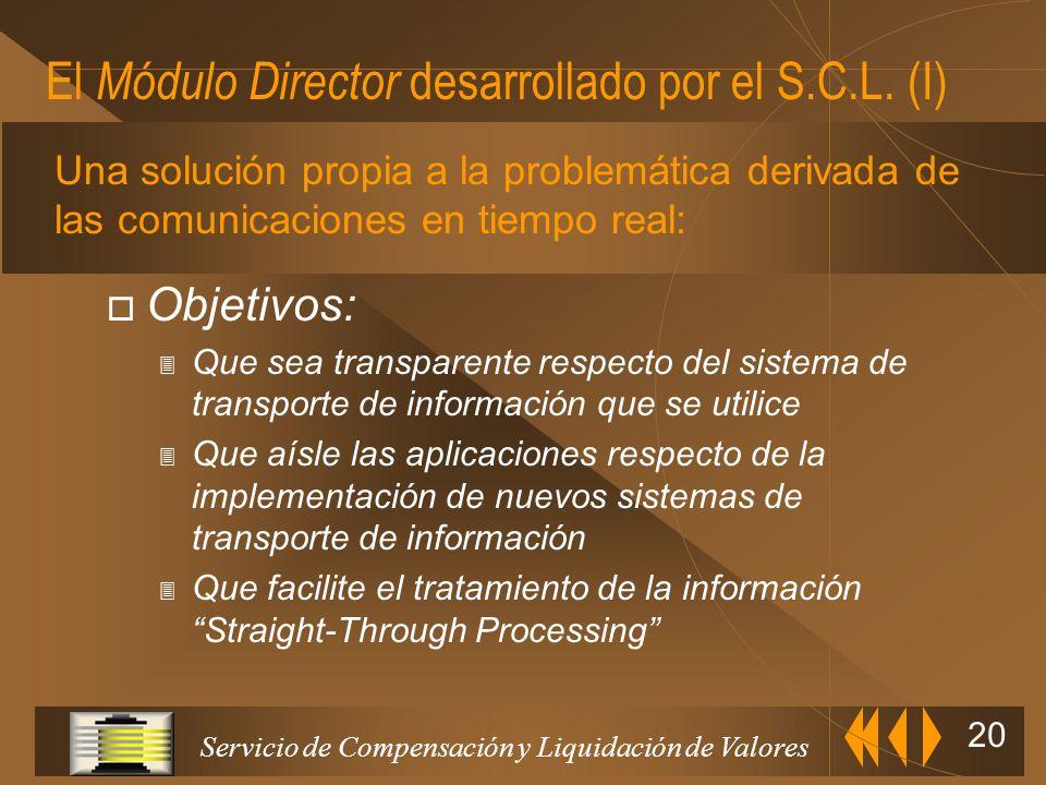 El Módulo Director desarrollado por el S.C.L. (I)