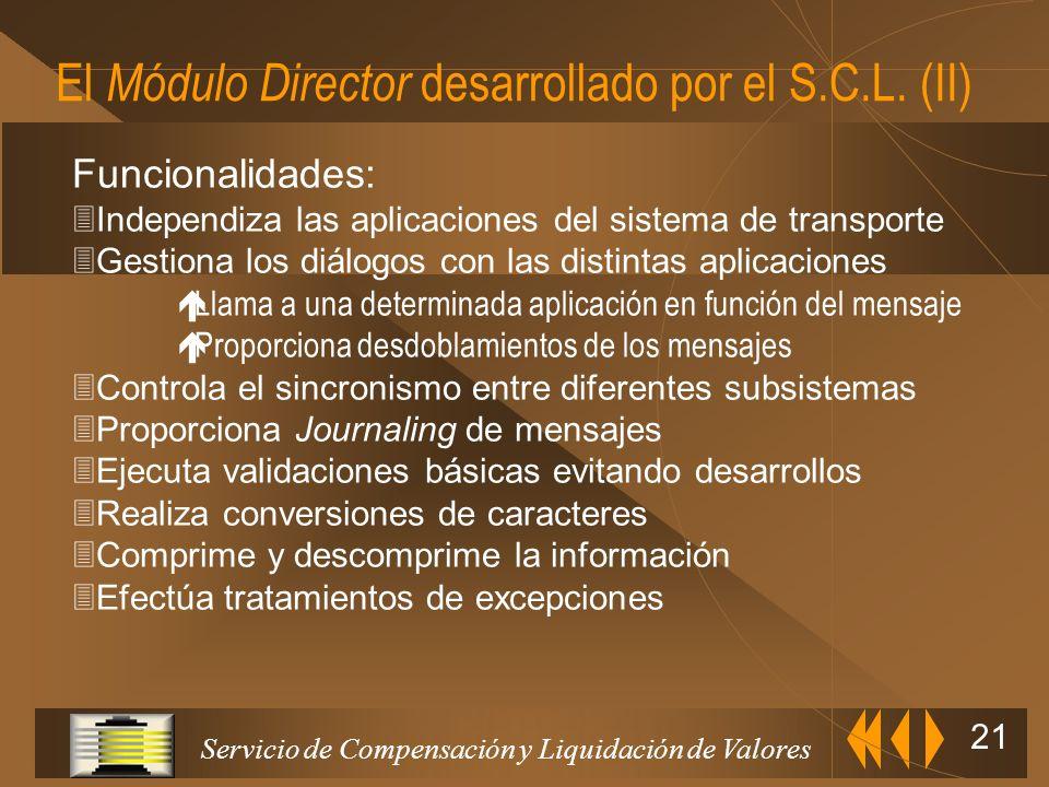 El Módulo Director desarrollado por el S.C.L. (II)