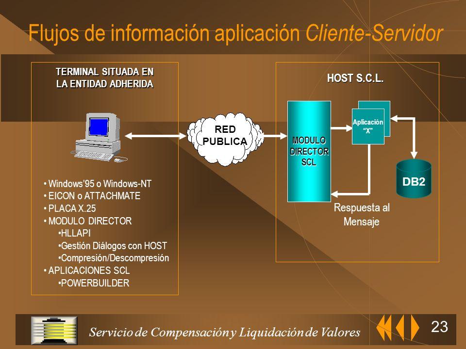 Flujos de información aplicación Cliente-Servidor