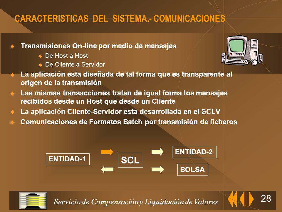 CARACTERISTICAS DEL SISTEMA.- COMUNICACIONES