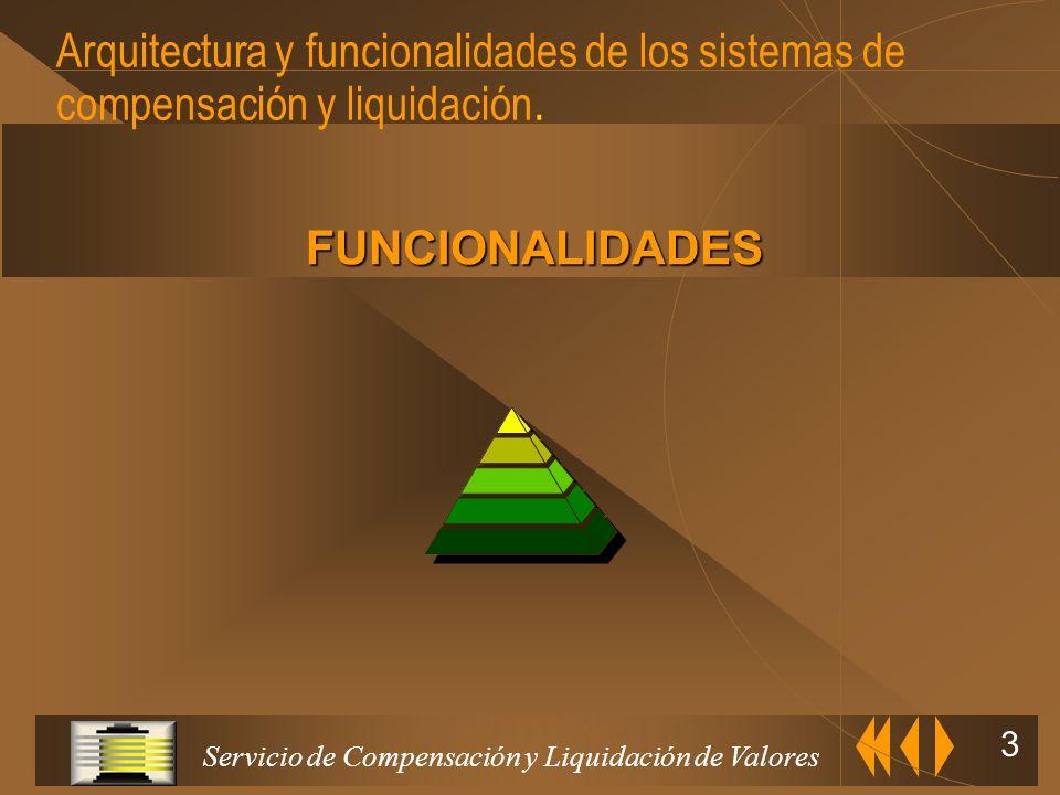 Arquitectura y funcionalidades de los sistemas de compensación y liquidación.