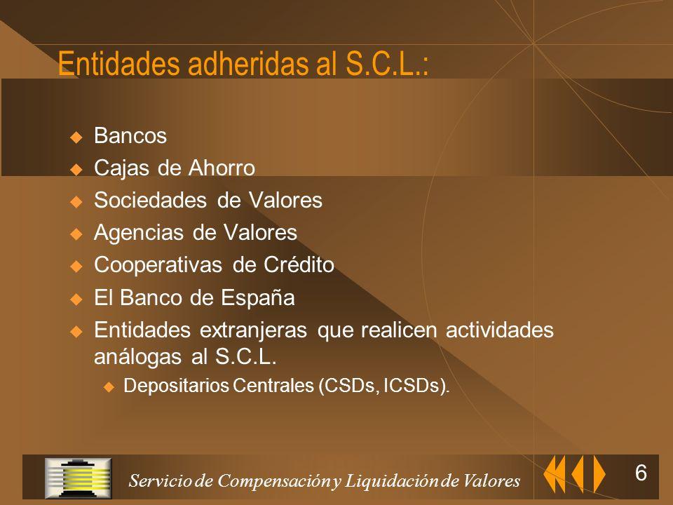 Entidades adheridas al S.C.L.: