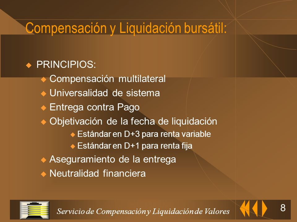 Compensación y Liquidación bursátil: