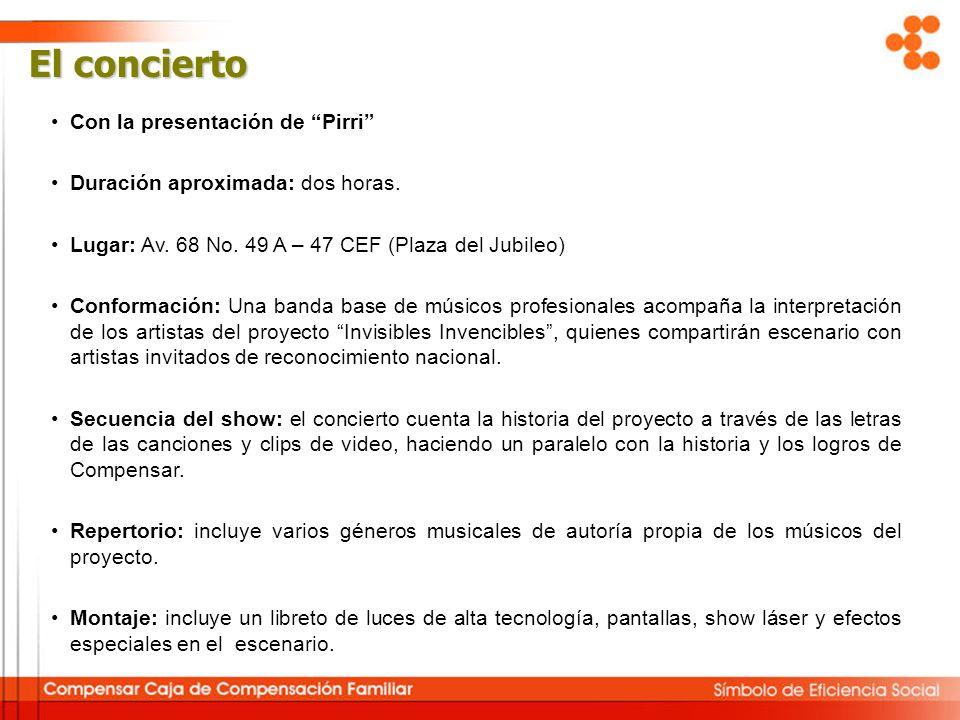 El concierto Con la presentación de Pirri