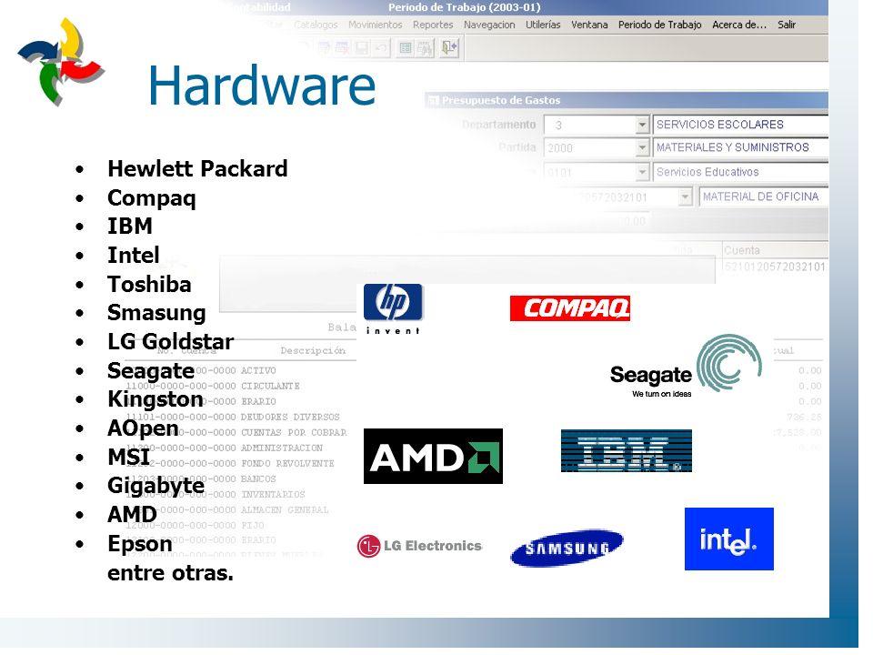 Hardware Hewlett Packard Compaq IBM Intel Toshiba Smasung LG Goldstar