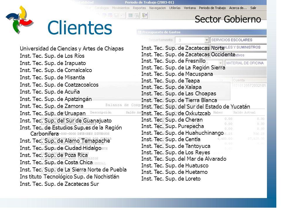 Clientes Sector Gobierno Universidad de Ciencias y Artes de Chiapas