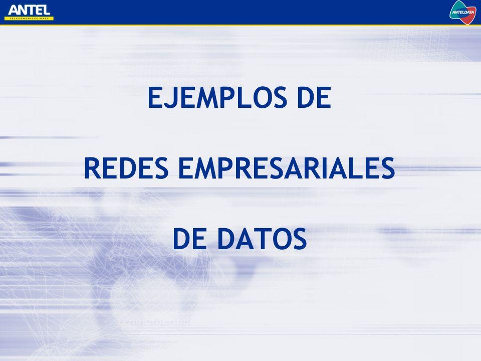 EJEMPLOS DE REDES EMPRESARIALES DE DATOS