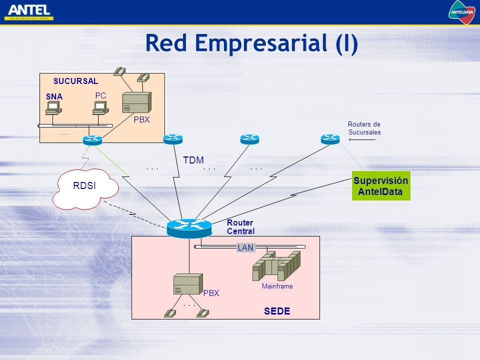 Red Empresarial (I) TDM Supervisión RDSI AntelData SEDE SUCURSAL SNA