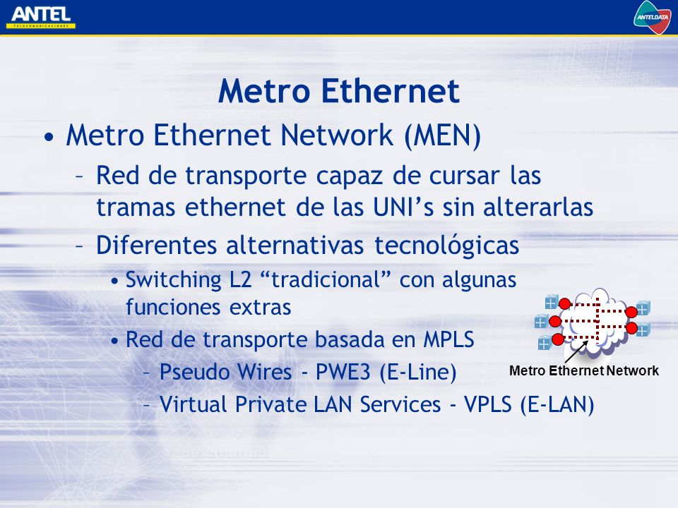 Metro Ethernet Network
