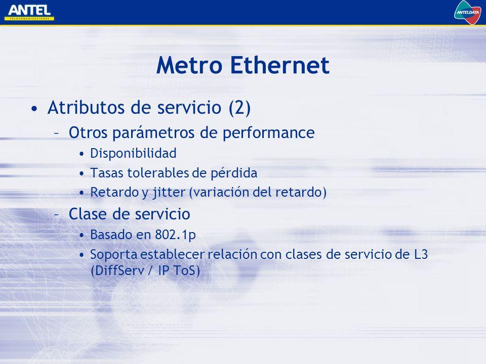 Metro Ethernet Atributos de servicio (2)