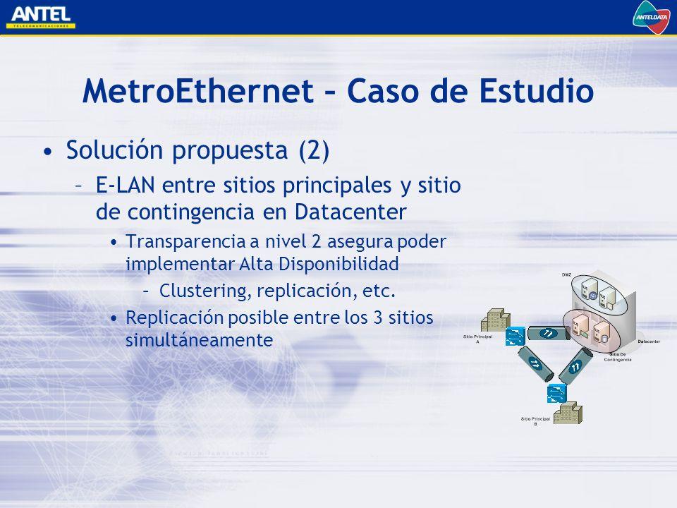 MetroEthernet – Caso de Estudio