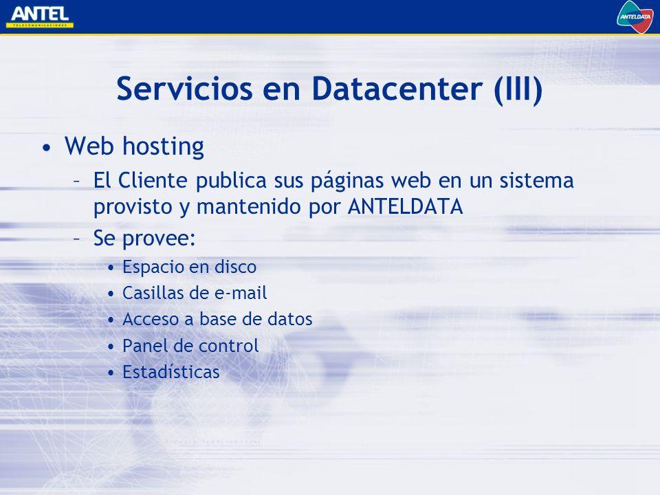 Servicios en Datacenter (III)