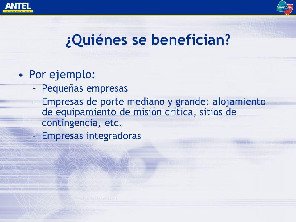 ¿Quiénes se benefician