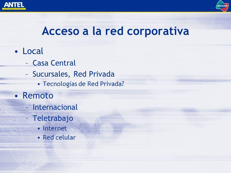 Acceso a la red corporativa