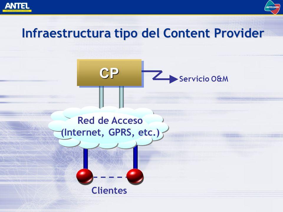 Infraestructura tipo del Content Provider