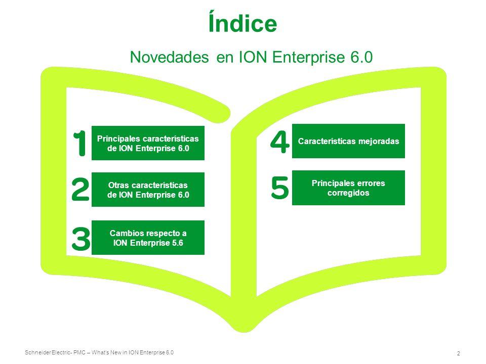 Índice Novedades en ION Enterprise 6.0 Principales características