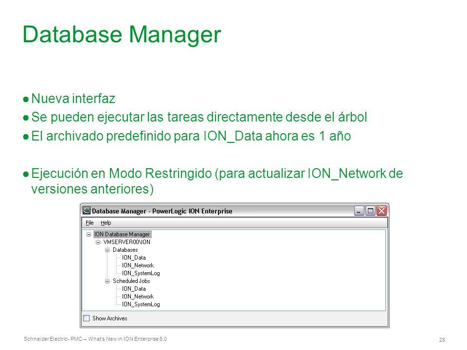 Database Manager Nueva interfaz