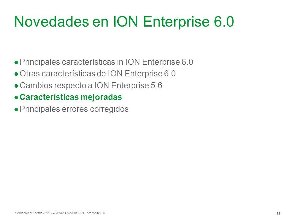 Novedades en ION Enterprise 6.0