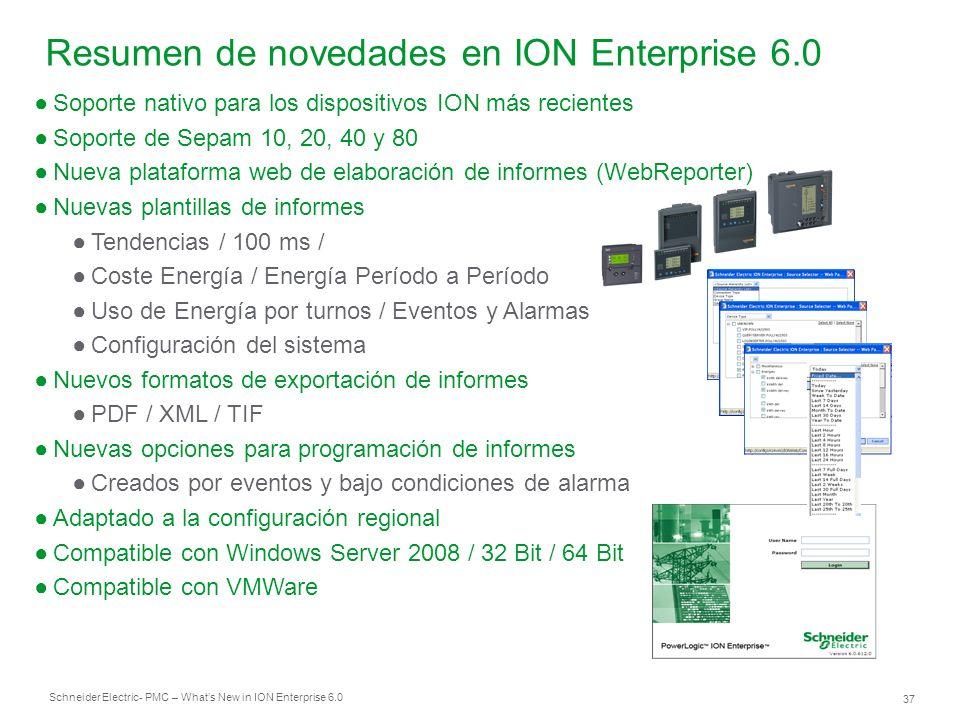 Resumen de novedades en ION Enterprise 6.0