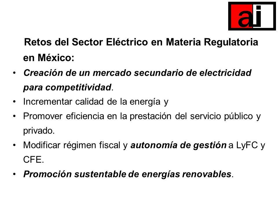 Retos del Sector Eléctrico en Materia Regulatoria en México: