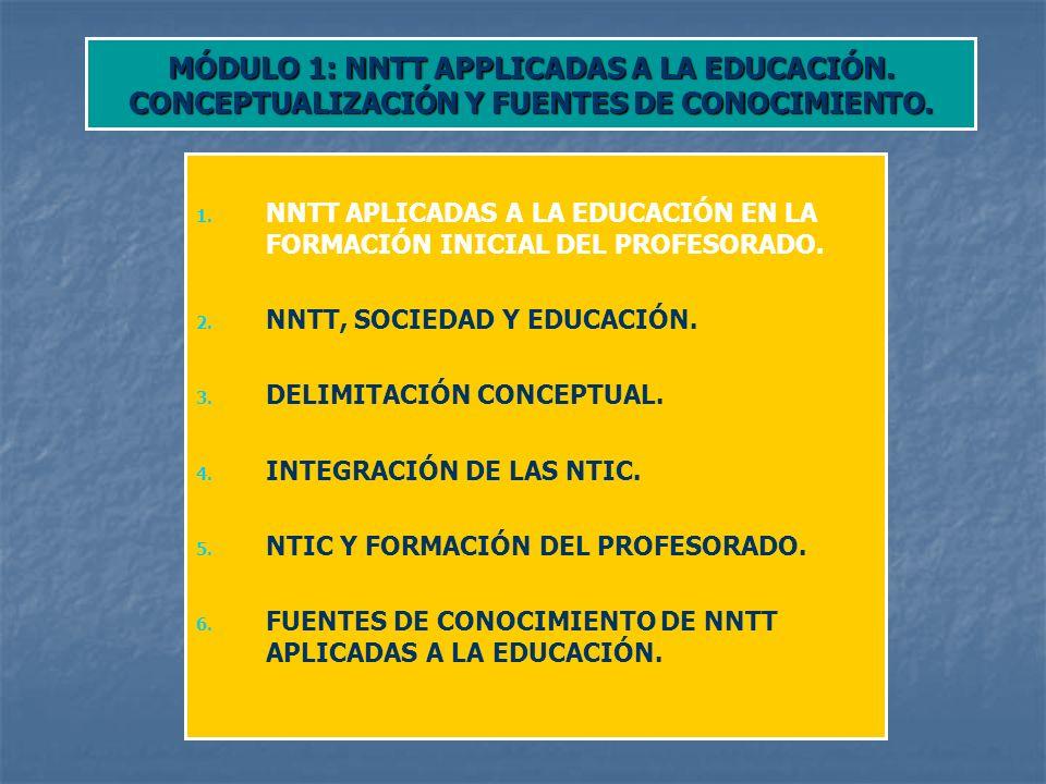MÓDULO 1: NNTT APPLICADAS A LA EDUCACIÓN