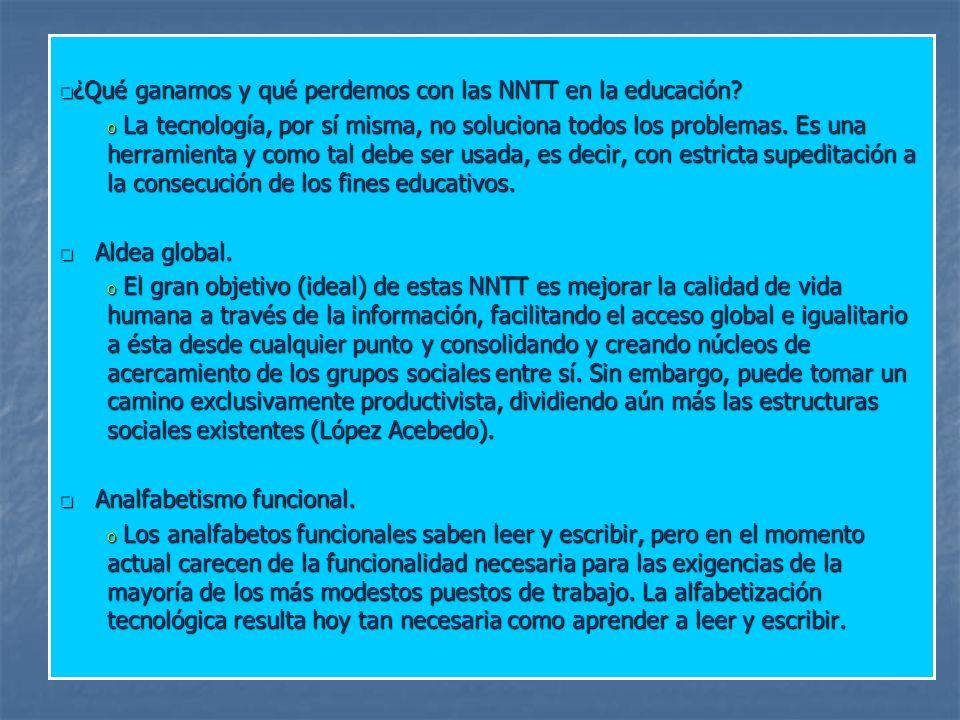 ¿Qué ganamos y qué perdemos con las NNTT en la educación
