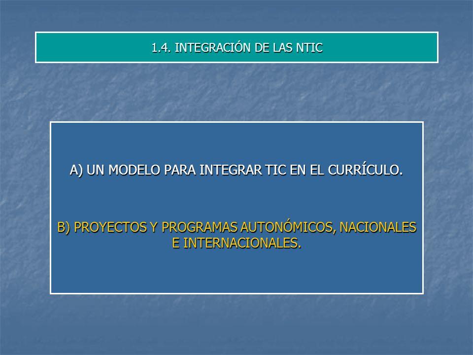 1.4. INTEGRACIÓN DE LAS NTIC
