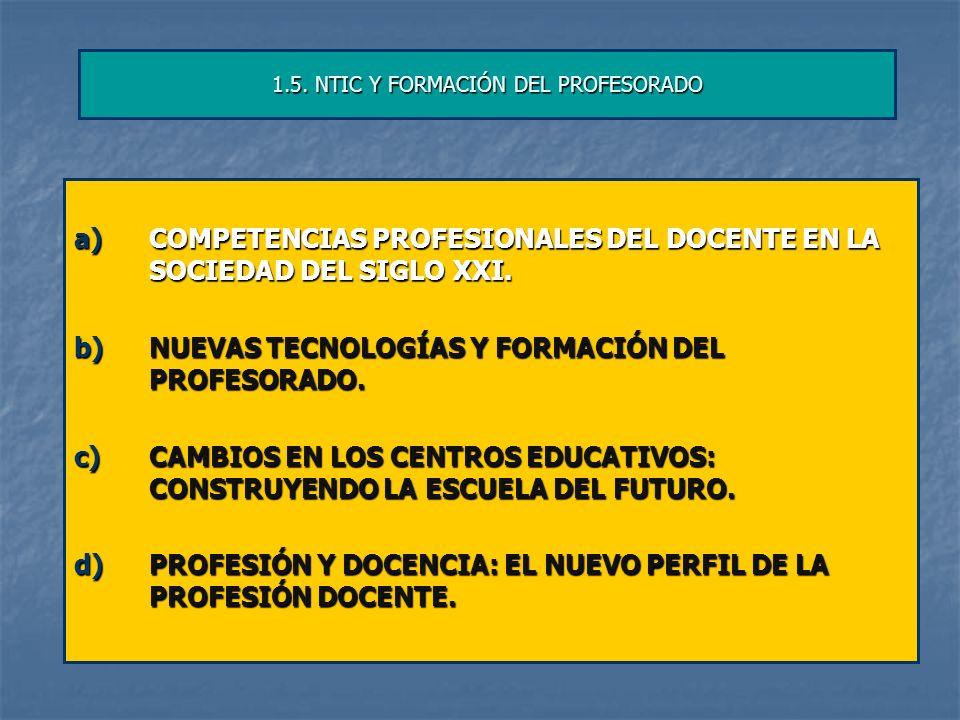 1.5. NTIC Y FORMACIÓN DEL PROFESORADO