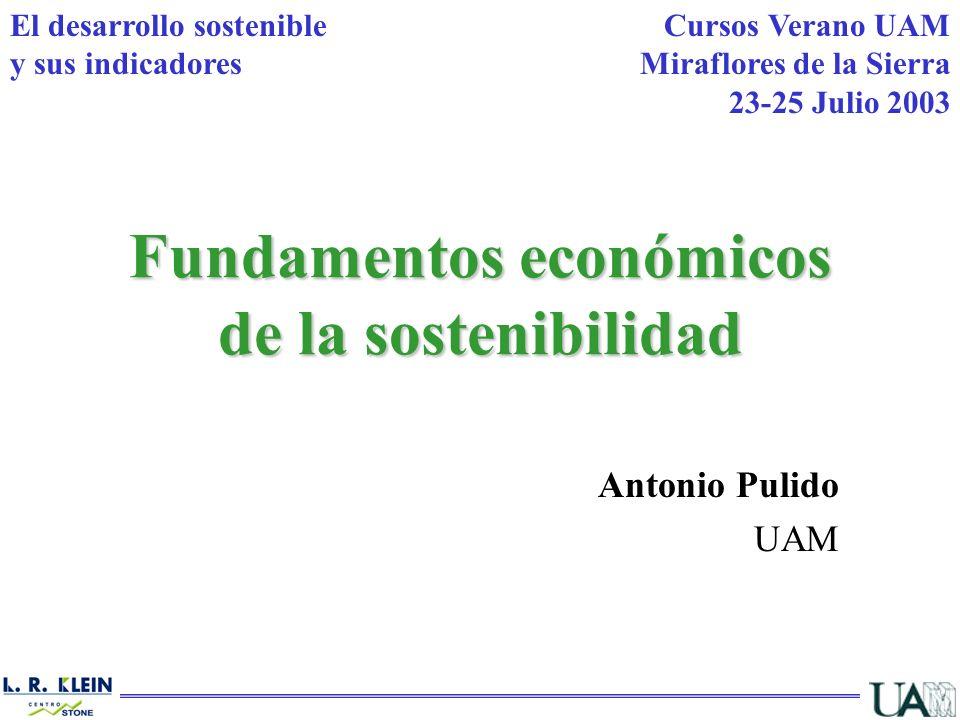 Fundamentos económicos de la sostenibilidad
