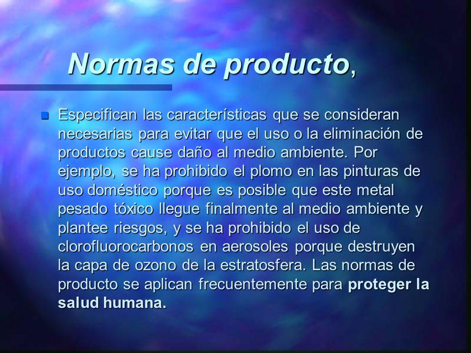 Normas de producto,
