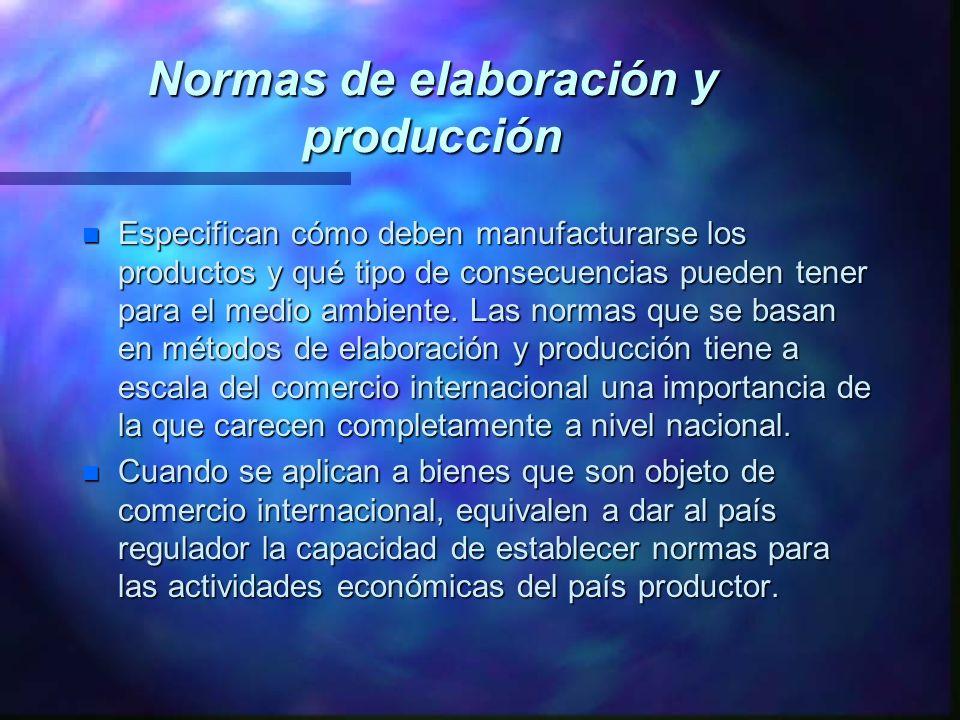 Normas de elaboración y producción