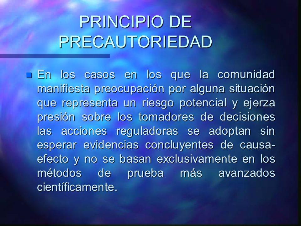 PRINCIPIO DE PRECAUTORIEDAD