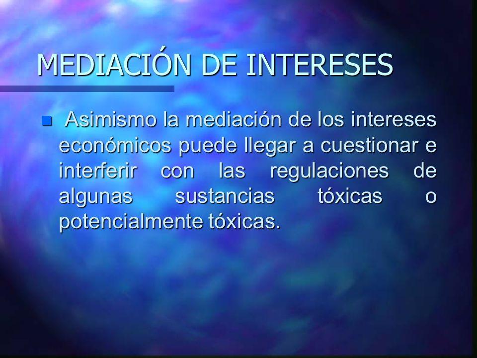 MEDIACIÓN DE INTERESES
