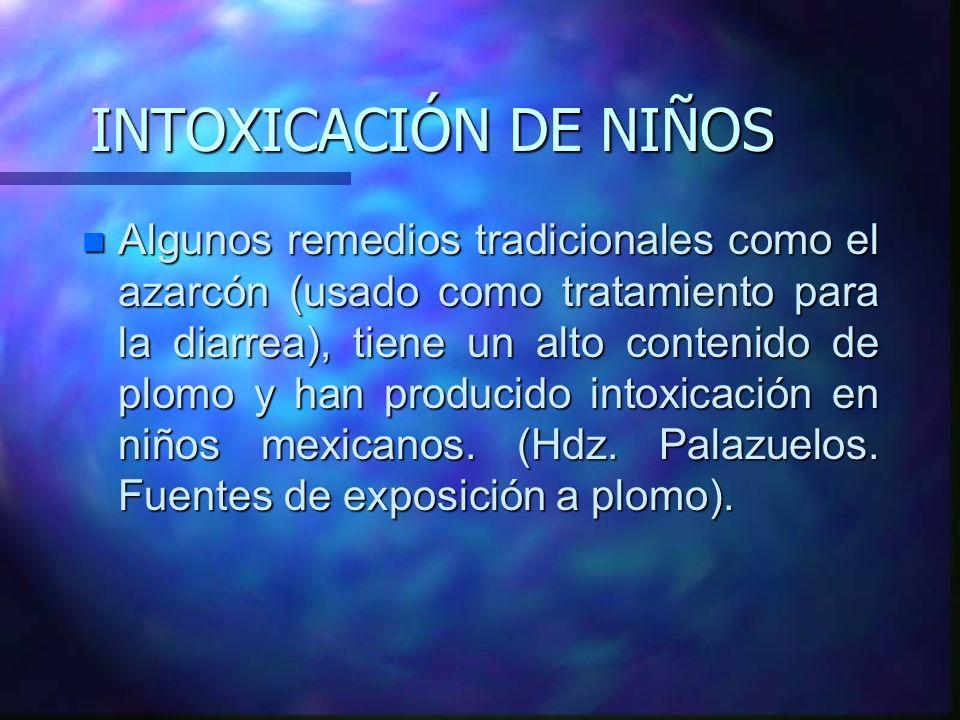 INTOXICACIÓN DE NIÑOS