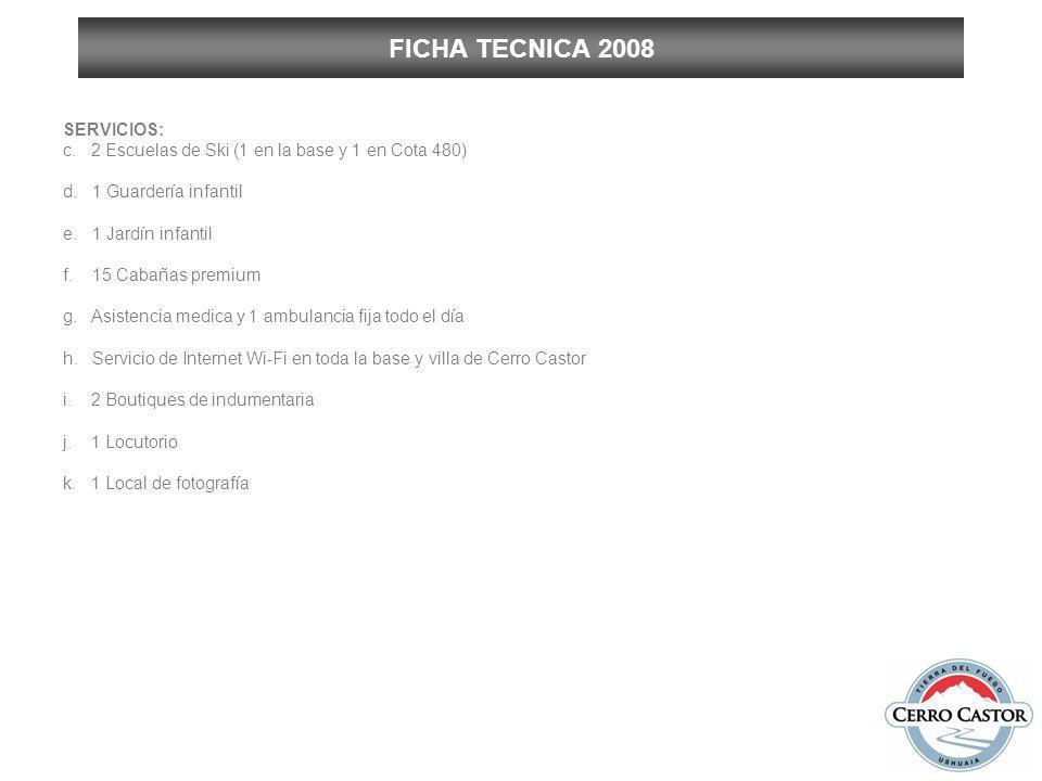 FICHA TECNICA 2008 SERVICIOS: