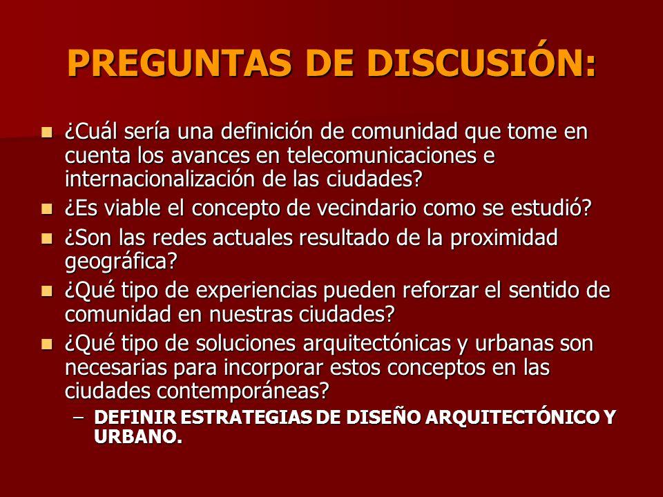 PREGUNTAS DE DISCUSIÓN: