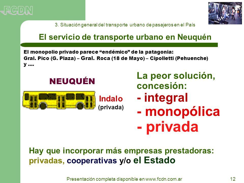 El servicio de transporte urbano en Neuquén