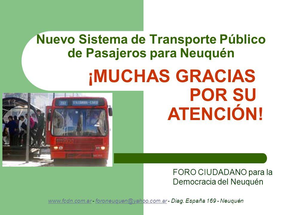 Nuevo Sistema de Transporte Público de Pasajeros para Neuquén