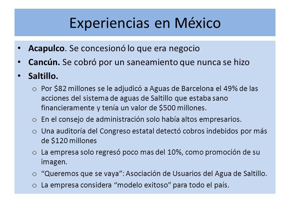 Experiencias en México