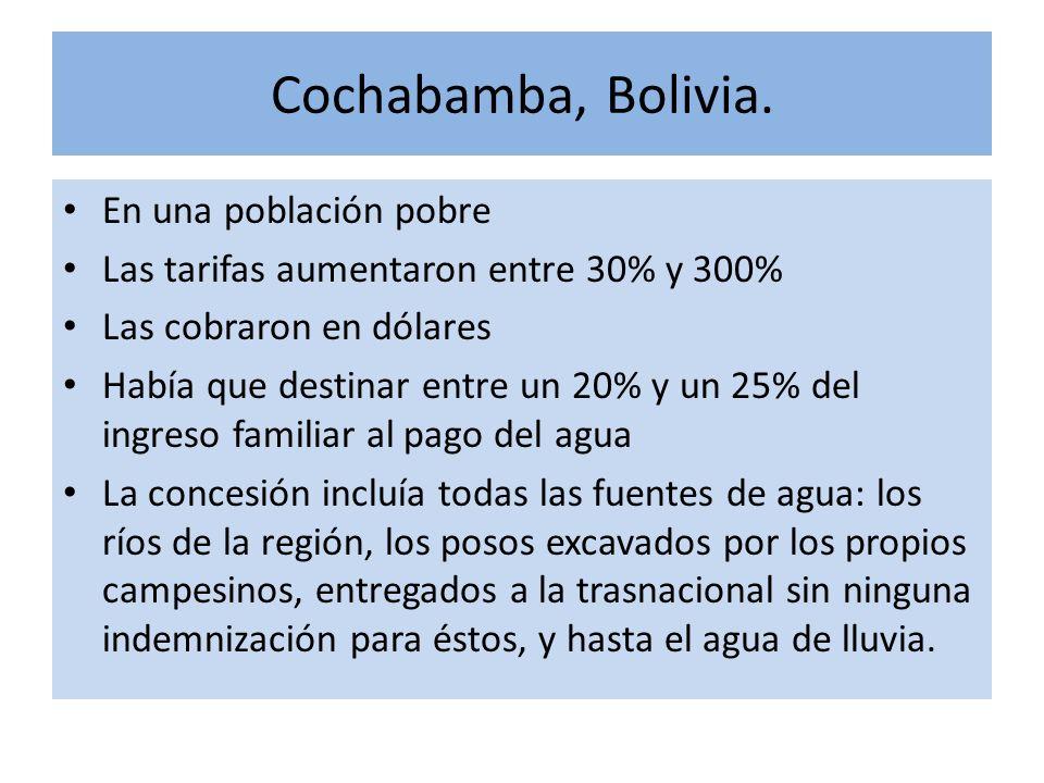 Cochabamba, Bolivia. En una población pobre