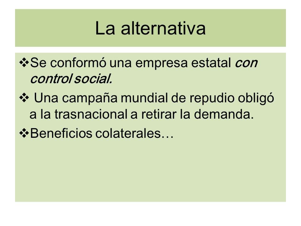 La alternativa Se conformó una empresa estatal con control social.