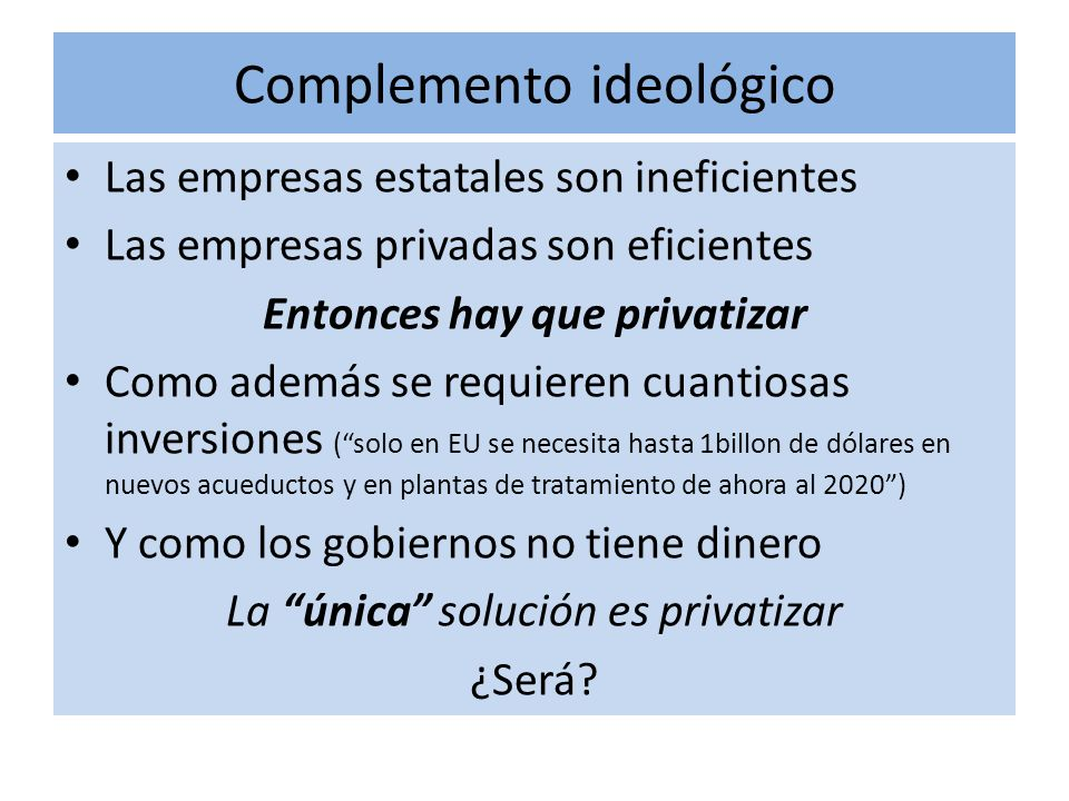 Complemento ideológico