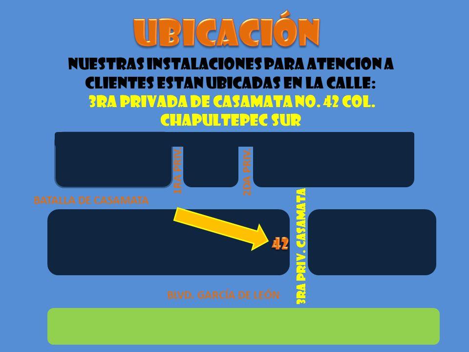 3RA PRIVADA DE CASAMATA No. 42 COL. CHAPULTEPEC SUR
