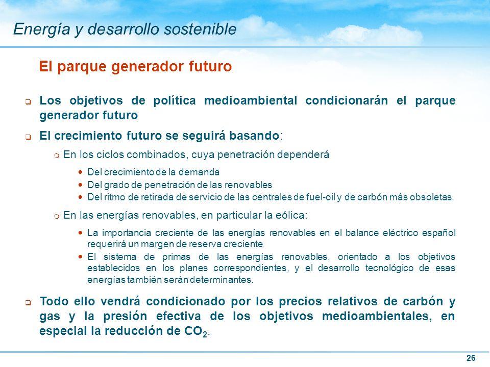 El parque generador futuro